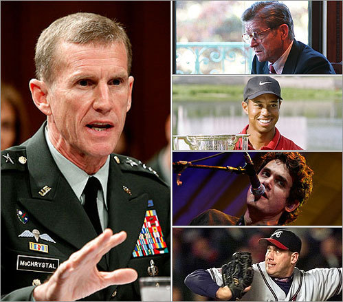 Top Afghanistan war commander General Stanley McChrystal agreed to be interviewed for Rolling Stone magazine, and the resulting article created a firestorm that led to him submitting his resignation to President Obama. In the article, McChrystal and some of his aides made critical comments about the president and members of the administration. McCrystal isn't the first high-profile person to come under scrutiny after agreeing to an interview. Read through for other examples.
