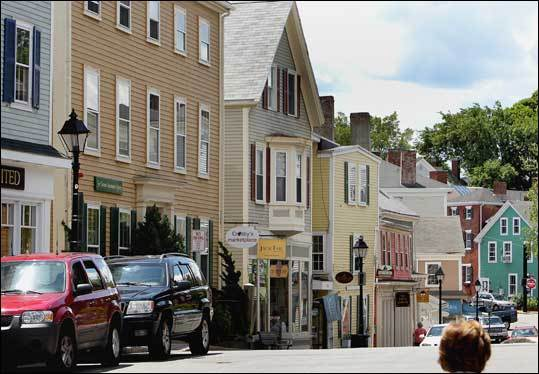 Washington Street in the old section of Marblehead is filled with eateries and boutiques.