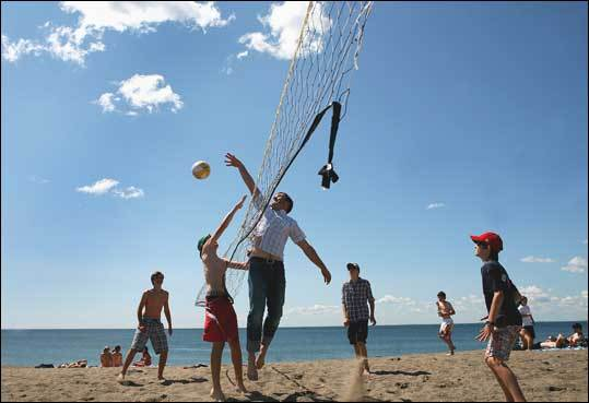 Devereux Beach is one of the most popular places to swim, build a sandcastle, and to play volleyball in Marblehead.