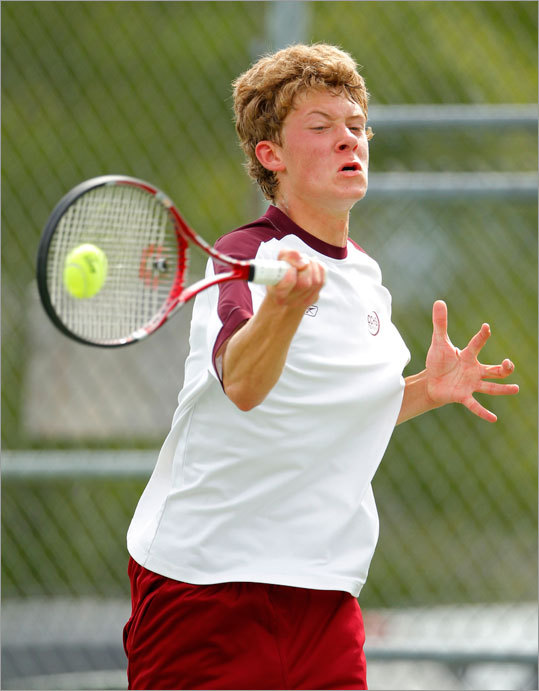 The tennis matches between Concord-Carlisle junior Alex Steinroeder and Lexington senior Cameron Ghorbani may have been the best single competition of the spring. In the North individual singles final, Steinroeder got the best of Ghorbani, 4-6, 6-2, 6-0. But the rematch in the Division 1 North team final, with spectators crowding nearly every foot of fencing around the court, it went Ghorbani's way, 6-4, 7-6 (7-3). With the win, Lexington knocked off the two-time defending team champions. ''We've had very close and intense matches but the atmosphere really added to it this time,'' said Ghorbani.