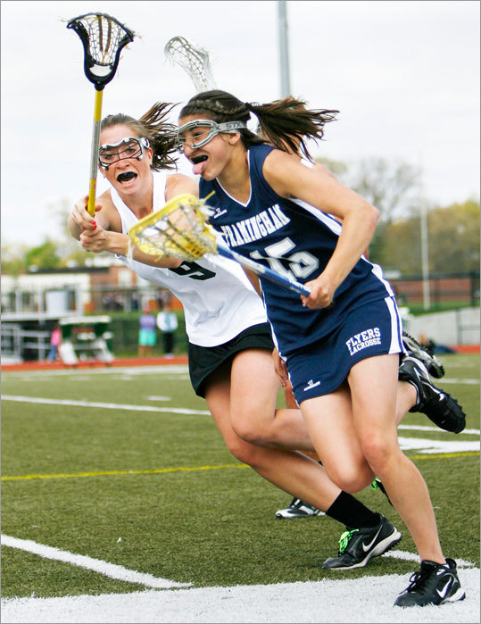 With time being kept on the field, no one at Foley Stadium in Worcester really knew how much time was left in Framingham's Division 1 girls' lacrosse state title game against Longmeadow. But Flyers' senior midfielder Tanner Guarino had the ball and she knew it wasn't much. Guarino scored with one second remaining to lift Framingham past Longmeadow, 8-7. It was the same score against the same opponent as 2007. ''All of the seniors were like, 'we came in as champions and we want to leave as them, so that's what we did,'' said Guarino. 'It's a good feeling.'' And just in the nick of time.