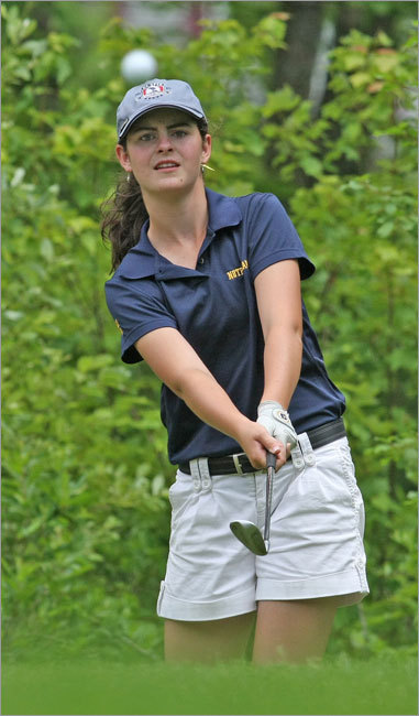 As the snow melted, there was some doubt this spring that maybe, just maybe, someone could beat the Notre Dame of Hingham golf team. After all, Player of the Year Alison Eleey transferred, leaving the eight-time champions minus one of the best players in the state. Think again. Led by Lauren Flynn's (right) low round of 72, the Cougars won their ninth straight state title, beating second-place Fontbonne by 16 strokes. ''Our goal was simply to get better,'' said coach Dave Gianferante. ''Usually we're after undefeated seasons or states. The only thing I said to these kids this year is, 'Our goal is everybody gets better,' and I think they have.''