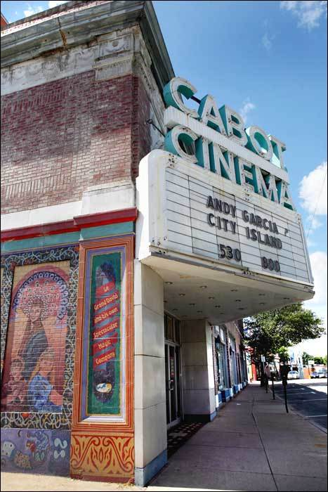 Cabot Street Cinema Theatre The theater, at 286 Cabot St., is one of the hallmarks of the picturesque downtown. Built in 1920, it is home to a movie theater and a live stage. Learn more about the theater .