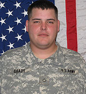 """He was a warrior. He loved the Army,'' said the father of Specialist Ryan J. Grady, who was killed by a bomb."