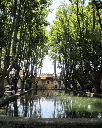 A pond in Cucuron, a village in the heart of the Luberon.