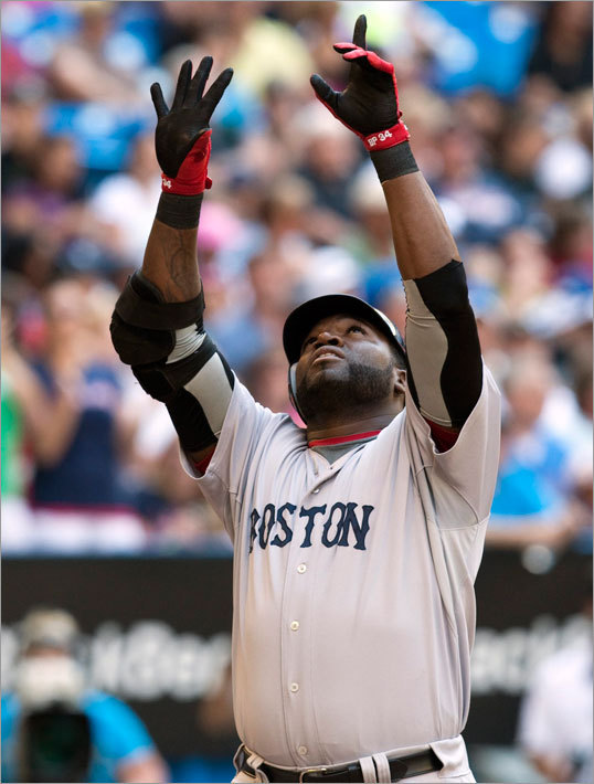 David Ortiz hit a go-ahead solo home run for the Red Sox in the sixth inning.