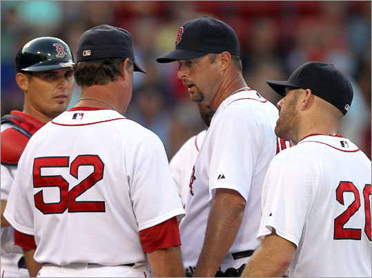 Tim Wakefield was ineffective in the series opener against the AL West-leading Rangers. Wakefield allowed six runs in the first inning and the Red Sox never recovered.