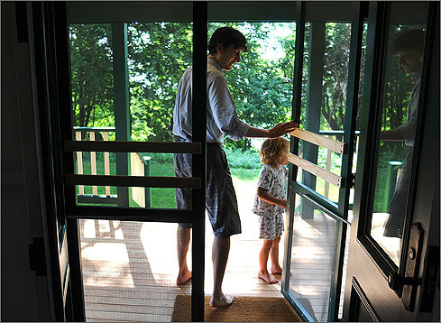 James and his son Bodie walked onto the front porch. The painstaking renovation work, which got underway in September 2009, wrapped up last month, and the Curriers celebrated with a ribbon-cutting ceremony over Fourth of July weekend. Two hundred people attended.
