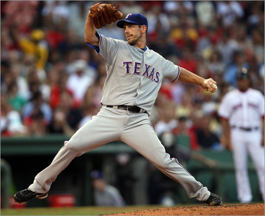 It didn't look like Saturday's contest would be much easier with the Sox facing Rangers ace Cliff Lee.