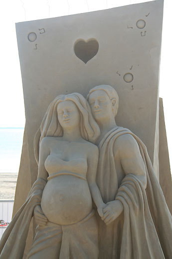 Montreal's Robert Stephane carved an expectant couple for his 'Life melody.'