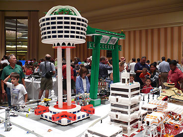 Brick by brick Thousands of LEGO-loving people gather in northern Virginia each August for BrickFair , the nation's largest LEGO festival. The event, sponsored by a group known as Adult Fans of LEGO, offers workshops on how to make giant castle walls, for instance, or how to incorporate rock formations, foliage, and waterways in your LEGO landscapes. You can also attend a robot sumo wrestling competition, when computerized LEGO robots grapple in the ring; watch stop-motion animated LEGO films; or play LEGO bingo. Close to 1,000 exhibitors display their elaborate creations: train layouts, tall buildings, towns, futuristic battle scenes, and space displays, all made out of the small plastic bricks. This year, you'll even see a Boeing 777 airplane that's built with 110,000 LEGOs, measures 9 1/2 feet long, and has operational navigation, beacon warning, runway, landing, and cabin lights.