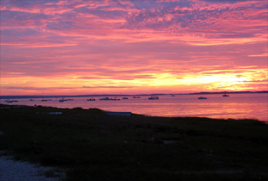 Megan Hardey, of Hingham, took this photo of the sunset over Barnstable Harbor during the Fourth of July weekend.