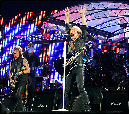 Bon Jovi, one of rock music's most enduring acts of the last quarter century, rolled into town for a show at Gillette Stadium.