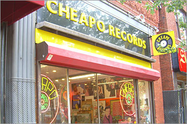 Used music Cheapo Records Location: 538 Massachusetts Ave., Cambridge Hours: Mon. - Wed. 11 a.m. to 7 p.m.; Thurs. - Fri. 11 a.m. to 9 p.m.; Sat. 11 a.m. to 7 p.m.; Sun. 11 a.m. to 5 p.m. Phone number: 617-354-4455 Had enough of today's kids and their darned digital music players? Head to Cheapo Records, which has a large selection of vinyl and savvy sales associates to help you find that long-sought import.