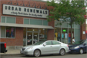 Large thrift stores Urban Renewals Location: 122 Brighton Ave., Allston Hours: Mon. - Wed. 9 a.m. to 6 p.m.; Thurs. 10 a.m. to 8 p.m.; Sat. 9 a.m. to 6 p.m.; Sun. noon to 5 p.m.; Closed Fridays. Phone number: 617-783-8387 This is no wimpy little thrift store. Supermarket-style shopping carts line the front, and patrons load them up with clothing, books, movies, kitchenware, toys, and shoes, typically for less than $10 a pop. A back room carries inexpensive furniture.