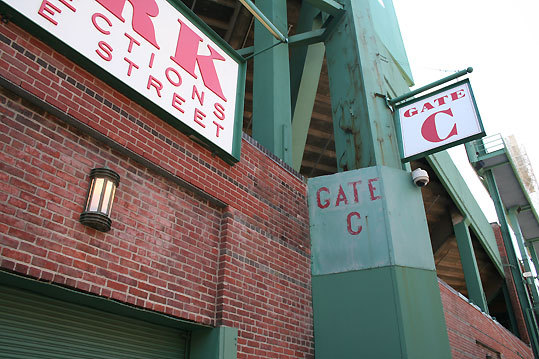Correct answer: Outside Gate C at Fenway Park