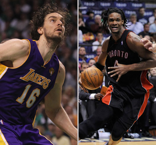 Pau Gasol/Chris Bosh Last season: 18.3 ppg, 3.4 apg, 11.3 rpg/24 ppg, 2.4 apg, 10.8 rpg It's easy to undervalue Gasol because the Lakers essentially acquired him for nothing. But make no mistake: If Gasol had been on the market this summer, he'd have been just as desired as Bosh was. These are the two preeminent forwards in the game right now. Celtics fans who doubted Gasol's toughness heading into this year's Finals had to swallow their pride and admit that Gasol got any shot he wanted. Bosh will be good in Miami, but obviously there will only be a certain number of shots to go around.