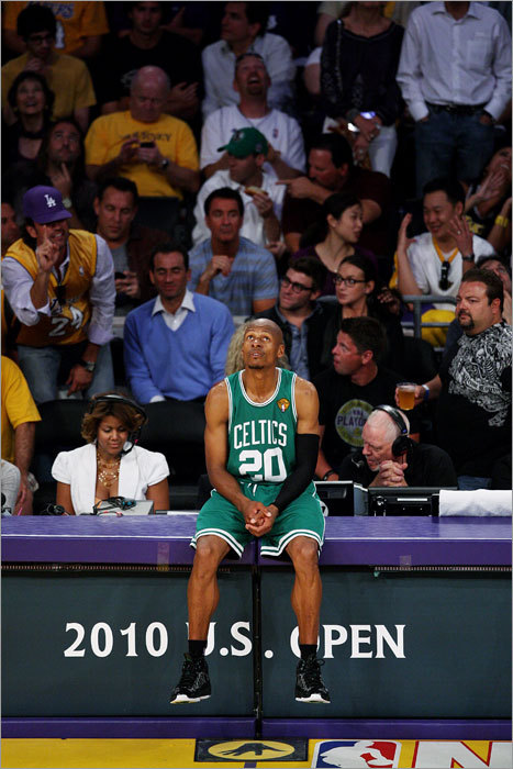 Ray Allen Last season: 16.3 ppg, 2.6 apg, 3.2 rpg Ray Allen's best days are behind him, but he's still consistently adding onto his legacy as the best long-distance shooter in the history of the NBA. Allen is in phenomenal shape for his age, but as we saw in the Finals, he can either dominate a game with his shooting or take a tough defensive assignment on a player like Kobe Bryant. He can't do both. Allen struggled offensively in the Finals (outside of one game), but his defense on Bryant was very effective. His signing with the Celtics was more important than it was made out to be. Who has the edge at shooting guard? survey software