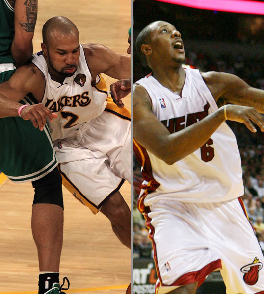 Derek Fisher/Mario Chalmers Last season: 7.5 ppg, 2.5 apg, 2.1 rpg/7.1 ppg, 3.4 apg, 1.8 rpg Derek Fisher flirted with Miami but did not stray from his one true love, Kobe Bryant and the Lakers. Fisher is a suitable point guard on a Lakers team that runs Phil Jackson's triangle offense. He's not Rondo, but he wasn't Rondo during this year's Finals and the Lakers still won the title (though Fisher can make a three-point jumper). Chalmers, meanwhile, is tasked with not screwing anything up: Feed the big three and get out of the way.