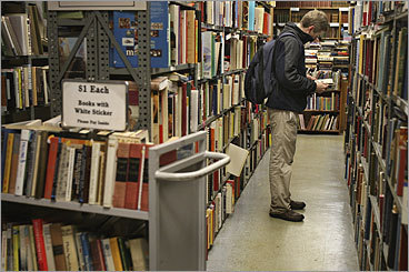 Used books Brattle Book Shop Location: 9 West St., Boston Hours: Mon. - Sat. 9 a.m. - 5:30 p.m. Phone number: 617-542-0210 When it's not raining or snowing, look through the shop's outdoor racks for $1, $3, and $5 books. If the weather outside is frightful, head inside and browse through three floors of books. More: There are many more used book stores in the Boston area. Check them out here .