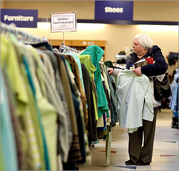 Large thrift stores Goodwill Locations: 11 in Massachusetts Hours: Store hours vary by location. Check the hours and addresses of some of the Massachusetts stores here , or search for a location near you . The nonprofit, which practically invented the thrift store concept in Boston about 100 years ago, relies on donated goods at its 22 locations in Massachusetts. Retail locations are situated across Greater Boston including Cambridge and Somerville.