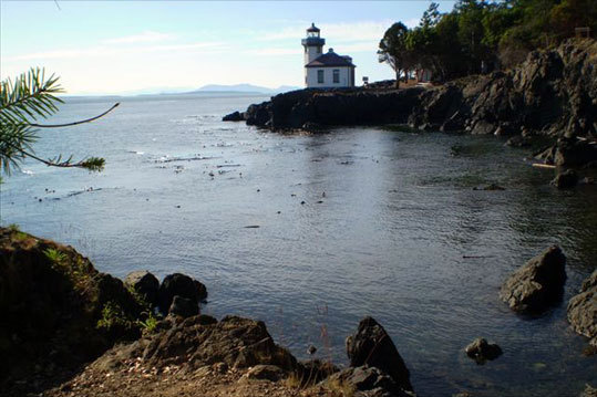 Joe Polliack, of Cape Town, South Africa, took this photo of a lighthouse at Orcas Island, Washington during the summer of 2008.