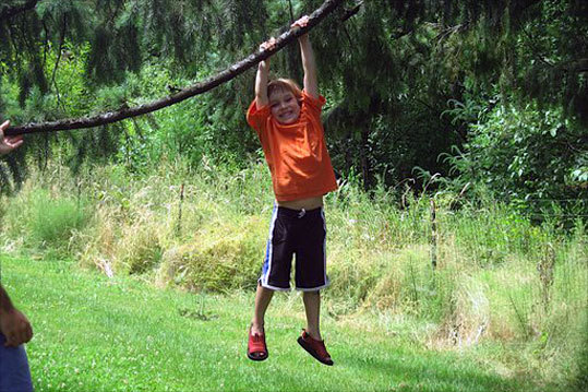 Joe took this photo of his grandson, Samuel, swinging on a tree branch in the park last summer in Portland, Oregon.