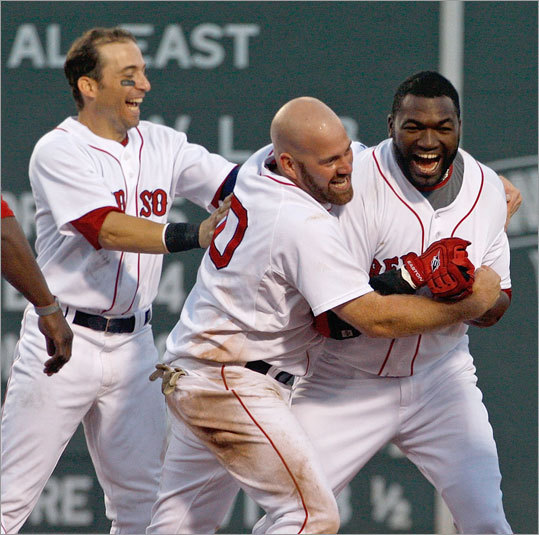 David Ortiz stroked a three-run double in the bottom of the ninth inning to give the Red Sox a walk-off victory. The Tigers walked Kevin Youkilis to load the bases before Big Papi cranked one to the base of the Green Monster.