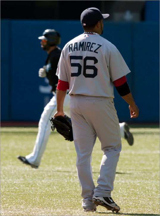 Ramon Ramirez traded On July 31, 2010, the Red Sox shipped Ramon Ramirez to the Giants for Double-A pitching prospect Daniel Turpen. The Sox made offers on Toronto's Scott Downs, Anaheim's Brian Fuentes, Seattle's Brandon League, and were also in on Toronto's Kevin Gregg, but in the end Theo Epstein was unwilling to give up a prospect of any merit, instead deciding to go in-house for relief help. The Sox came up short and finished in third place in the AL East.