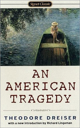 'An American Tragedy' by Theodore Dreiser (1927) References to sex and violence led to the banning of Dreiser's novel.
