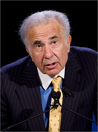 2010 - Proxy fight with Icahn After Genzyme shares fell following the contamination at the Allston plant, billionaire activist investor Carl C. Icahn (pictured) called the manufacturing process 'broken' and attempted to gain four seats on the Genzyme board, which would have allowed him to sell or split up the company - and remove Termeer. However, Termeer successfully avoids that result, striking a deal that gives Icahn only two seats and protecting his position at the company.