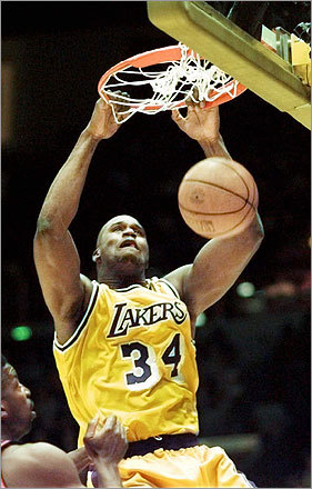 Shaq continued his dominance after he signed with the Los Angeles Lakers in 1996. He won three straight NBA titles with the Lakers and became an international celebrity.
