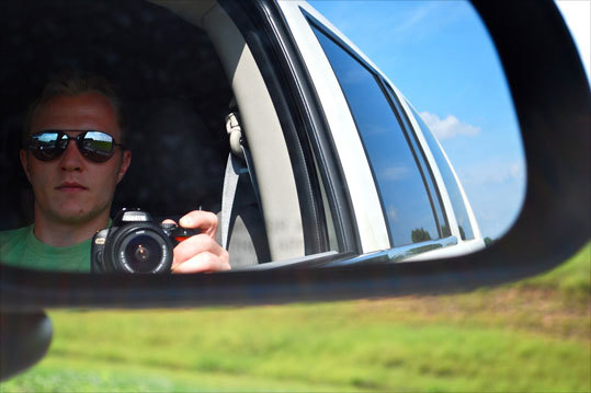 Keith Spencer, of Everett, snapped this self-portrait during a road trip down the east coast last August.