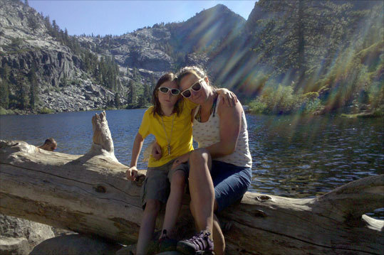 Elise and her daughter, Quinn, on vacation after a hike to Eagle Lake in Lake Tahoe, California.