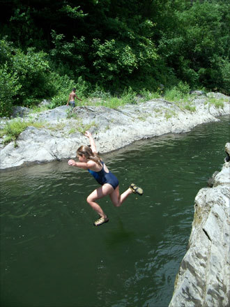 Lynn took took this photo of her daughter, Jackie, jumping into the Quechee Gorge in Bradford, New Hampshire over the fourth of July weekend.