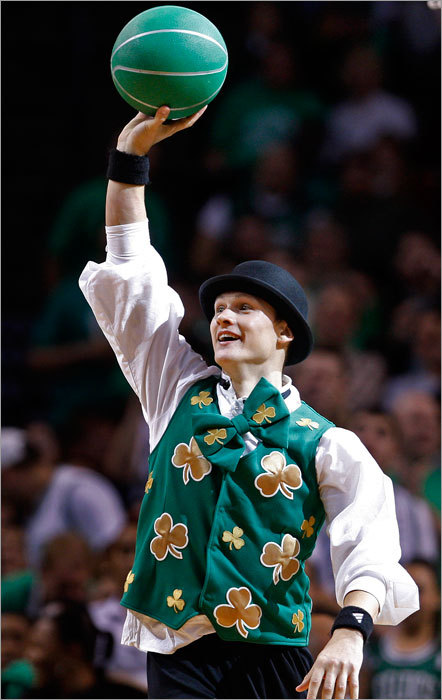 Makes sense, right? The Celtics have a leprechaun mascot named Lucky. Why not have another lucky mascot? We also like 'The Big Shamrock' or 'The Big Shaqrock', but we're open to suggestions.