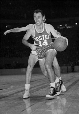 Bob Cousy The case for: 'The Cooz' made 13 NBA All-Star teams during his career and won the MVP in 1957. He made 10 straight All-NBA first teams from 1951 to 1961. Efficient and extraordinarily creative, he is one of the greatest point-guards in history, leading the league in assists from 1953 to 1960. However, he was also a potent scorer, being in the top 10 in points scored in eight straight years. Stats: 19 years seasons/18.4 PPG/7.5 APG/.375 FG percentage