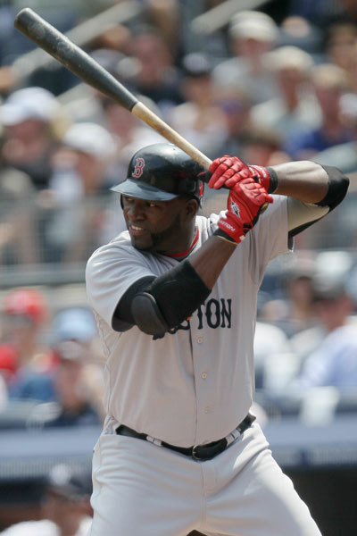 Red Sox slugger David Ortiz took the plate against the Yankees.