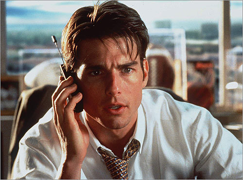 'Jerry Maguire' (1996) After having the rug pulled out from under him, super sports agent Jerry Maguire (played by Tom Cruise) decides he'd had enough of the crooked world of corporate sports management. He makes an impassioned speech in the office on his way out the door, encouraging colleagues to come with him. Only a loyal assistant (played by Renée Zellweger) bites.