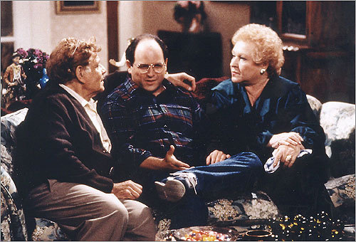 'Seinfeld: The Red Dot' (1991) In the long-running NBC sitcom, George Costanza (pictured, center, played by Jason Alexander) had a spotty, if not bizarre employment history. In one episode, he landed a position at his friend Elaine's company, but lost his job after it was discovered that he'd been intimate with a cleaning woman in the office after hours.