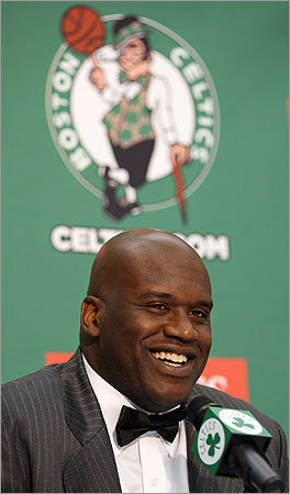 Shaquille O'Neal has had Boston on the brain a lot lately. It culminated today with his introductory news conference.