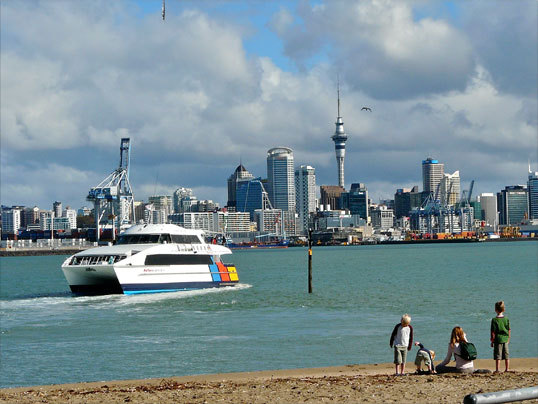 There are just over 4 million New Zealanders, and a third of them live in the capital of Auckland and its environs, seen here from nearby Devonport.
