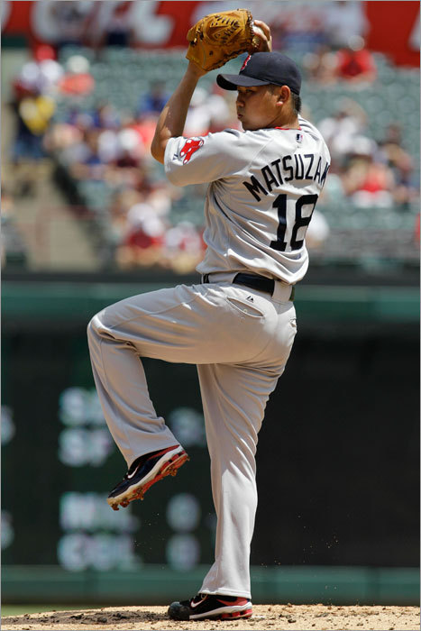 Daisuke Matsuzaka started for the Red Sox Sunday. He recorded his 500th strikeout of his Red Sox career in the fifth inning of the game.