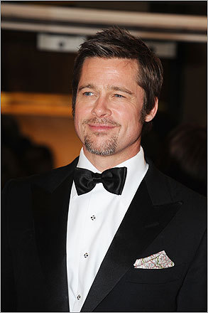 At number five, Brad Pitt is the top man on the list, and also its shortest name, with only eight letters.