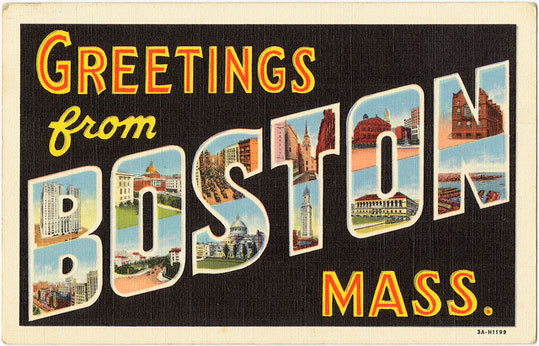 In 2010, the Boston Public Library introduced 'Greetings from Boston,' a collection of hundreds of postcards boasting images of the city during the early part of the 20th century. Take a look at some of the vintage images from this fascinating collection.