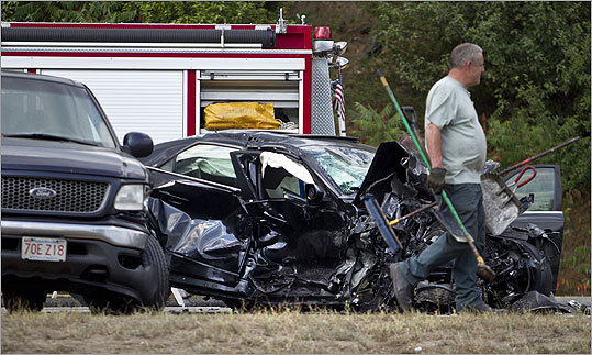 A fatal car crash closed state Route 2 westbound in Lexington at Interstate 95. State police say three cars and a pickup truck were involved in the accident west of Boston.