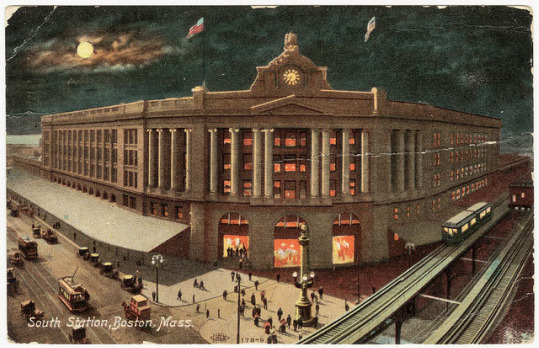 South Station on a postcard sent in 1908.
