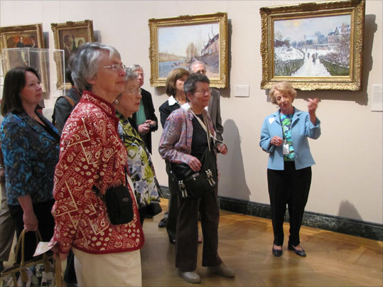 "The group stopped in at the Museum of Fine Arts in Boston for their ""Masterpieces"" tour."