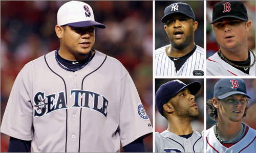 The American League Cy Young Award race didn't get much clearer last night as the three leading contenders -- CC Sabathia of the Yankees, Felix Hernandez of the Mariners and David Price of the Rays -- all turned in excellent performances. Despite that, a pair of Red Sox are in the conversation regarding this year's award, especially now that voters list five on their ballots instead of just three. The results of the voting will be revealed in November. Here's a look at the leading contenders.