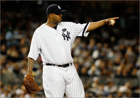 CC Sabathia, Yankees Stats: 21-7, 3.18 ERA, 197 K, 1.19 WHIP Sabathia's win total is impressive, but he's also backed by one of the most potent lineups in the game. He rebounded from a poor showing last week vs. fellow Cy Young contender David Price of the Rays with a solid performance Tuesday to beat the Blue Jays 6-1 and clinch a playoff spot for the Yankees. The support he gets from a lineup of stars, plus his high opponent batting average of .243, may cost him in the eyes of some voters.